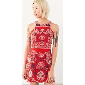 Urban Outfitters J.O.A. Embroidered Tank Dress